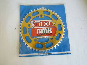SUNTOUR-SPROCKET-CHAINRING-45-TEETH-GOLD-BMX-CRUISER-FREESTYLE-NOS