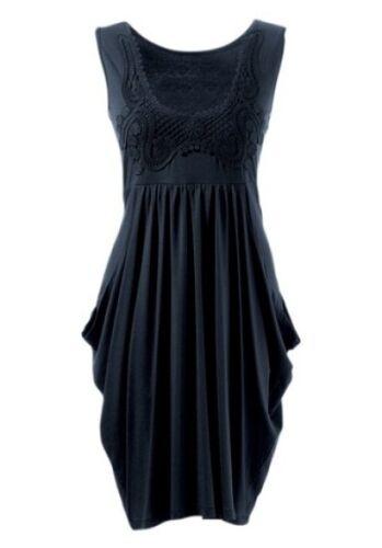 Aniston Robe Superposé Noir Femme Taille 36 Robe D/'été Loisirs Robe