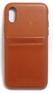 Platinum-Leather-Wallet-Case-for-Apple-iPhone-X-and-XS-Papaya