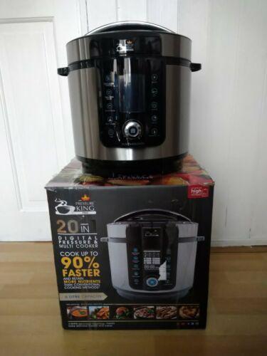 Pressure King Pro 20-in-1 6L Pressure Cooker - Chrome
