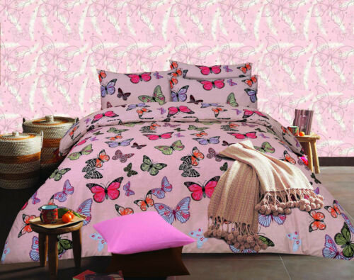 Butterfly Design Premium Quality Printed Duvet Quilt Cover Bedding Set All Sizes