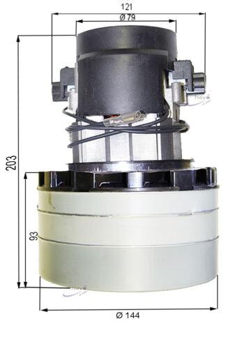 acústica adecuado para taski combimat 1700 Saugmotor saugturbine 24 V descarada