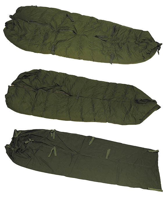 Ejército alemán BW KSK German Army saco de dormir Cold Weather CW sleeping bag 5 pzas.