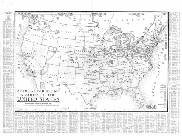 1924 RADIO STATION MAP Des Moines Sioux City Fort Dodge Boone IA Moorhead MN BIG