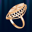 Rotgold anillo Rose oro 585 goldring markis vintage-estilo brillante nuevo