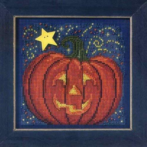 MILL HILL Buttons Beads Kit Counted Cross Stitch MIDNIGHT PUMPKIN MH14-3206