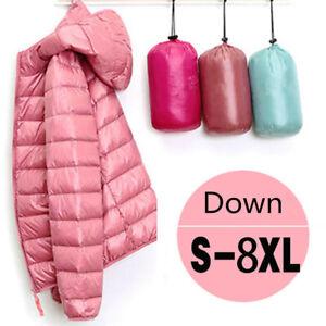 Women 90% Down Jacket Lightweight Super Warm Outerwear Coat Puffer Hoodie