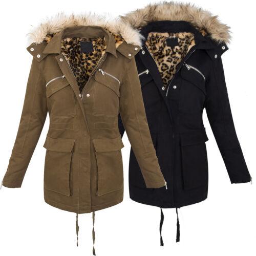 D'hiver Chaud Pour D Femme Veste Manteau Léopard 230 Parka Teddyfell 761Uw