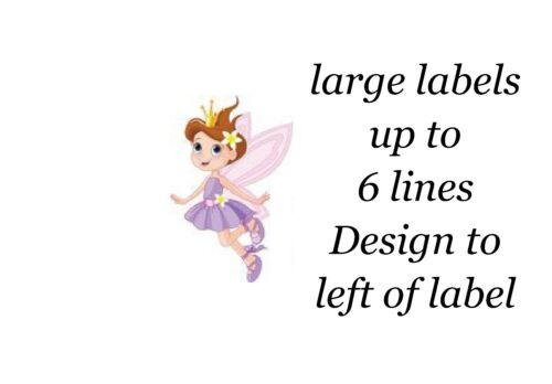 Purple Fairy Small or Large Sticky White Paper Stickers Labels NEW