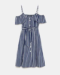 invicto x venta en línea personalizadas Detalles de Nuevo Nuevo Con Etiquetas Zara Azul Marino Blanco Mono De Rayas  Vestido Midi A Rayas S pequeño 8 4 36- ver título original