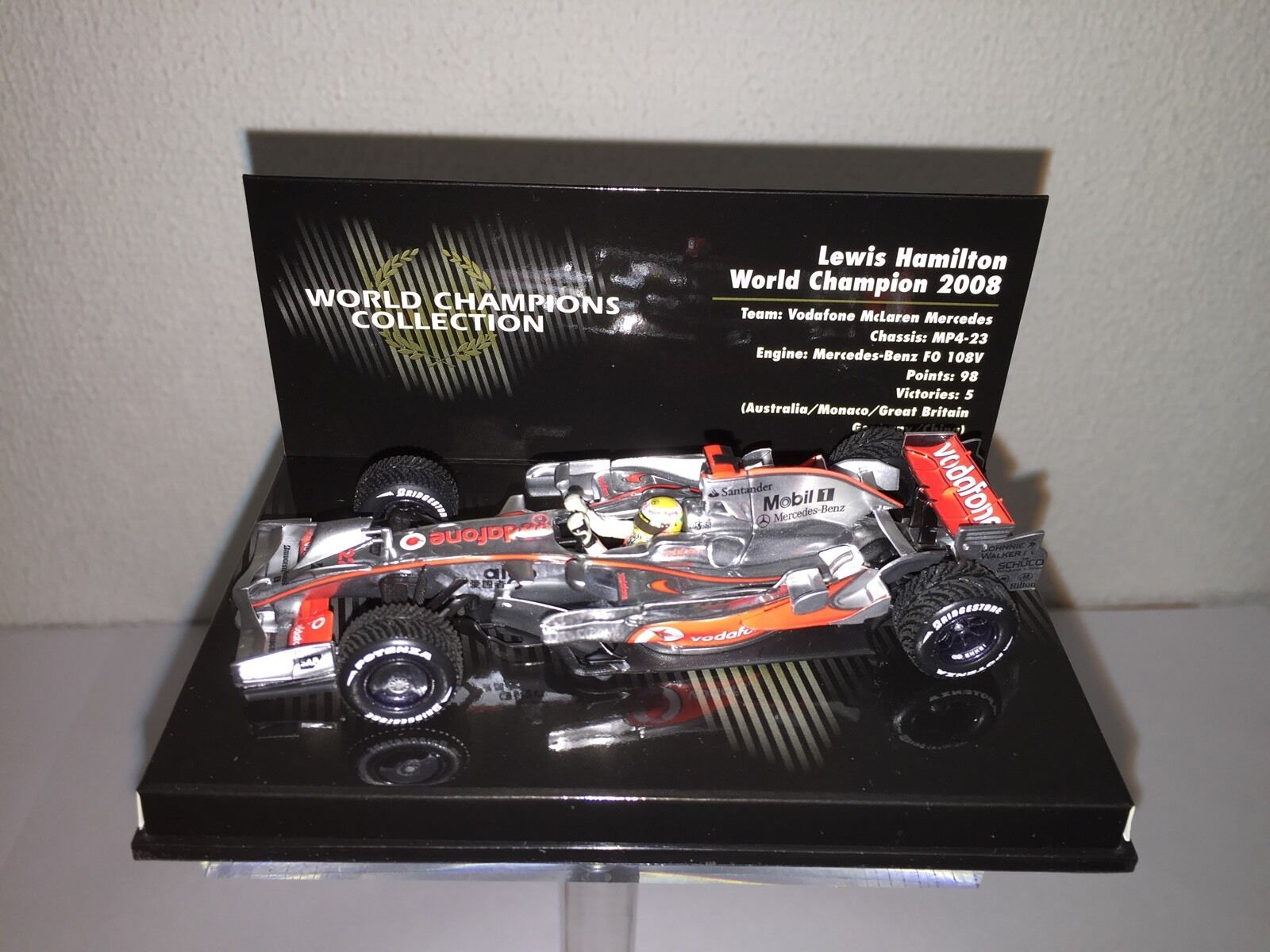 Vuelta de 10 dias Lewis Hamilton World Champion Champion Champion Edition 2008 1 43 Minichamps Nr. 530084332  servicio honesto