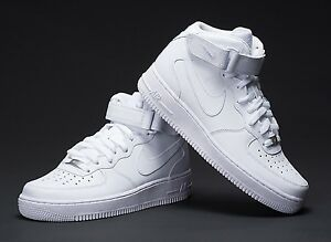 NIKE-Men-039-s-NIKE-AIR-FORCE-1-MID-SNEAKERS-LIFESTYLE-SHOES-WHITE