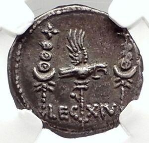 MARK-ANTONY-Cleopatra-Lover-32BC-Ancient-Silver-Roman-Coin-LEGION-XIV-NGC-i75091