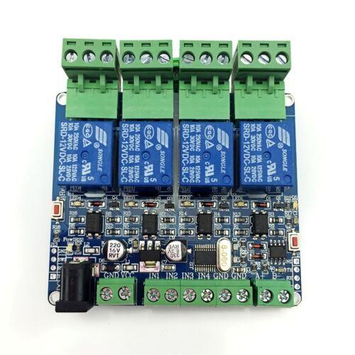 Modbus Rtu 4 Way módulo de relés hágalo usted mismo stm8s103 Sistema 4 camino de entrada 485 comunicación