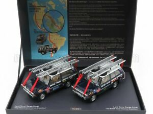 ALMOST-REAL 1/43 LAND ROVER | SET 2X RANGE ROVER THE BRITISH TRANS AMERICAS E...