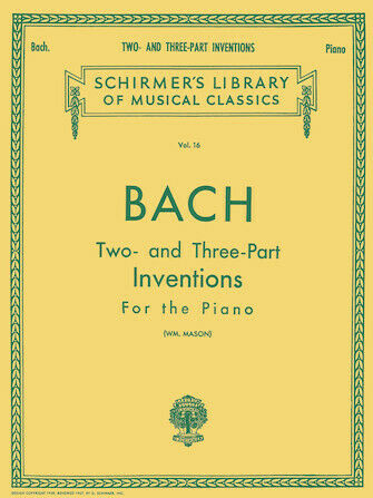Piano Solo Johann Sebastian Bach 30 Two and Three-Part Inventions