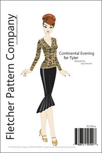 """Fashion Plate Doll Clothes Sewing Pattern 16/"""" Tyler Wentworth Dolls Tonner"""