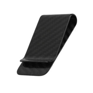 Real carbon fiber money clip matte black business card credit card image is loading real carbon fiber money clip matte black business colourmoves