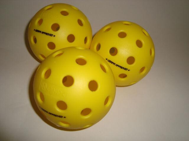 Set of 3 Onix Fuse Outdoor Pickleball Balls Tournament Meet USAPA Yellow for sale online