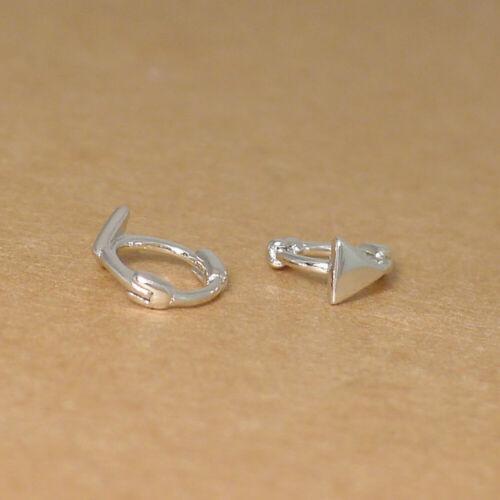 Sterlingsilber Mini Reifen Schlicht Star Quadrat Dreieck Huggie Klappbar Ohrring