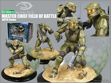 Halo 3 Master Chief Field Of Battle Kotobukiya Statue With Custom Katana Sword!!
