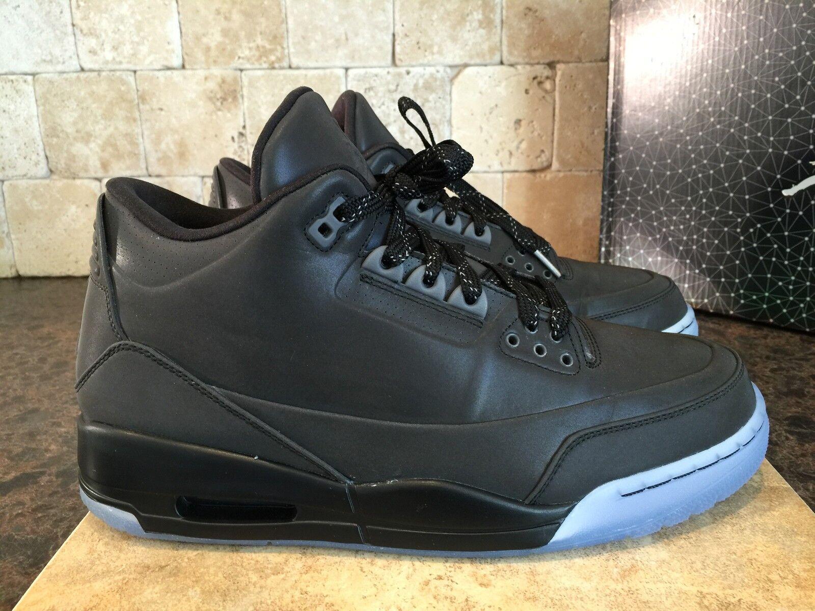 JORDAN 5LAB3 Chaussures Homme Taille 9.5 631603 010 Noir Noir clair excellent état utilisé
