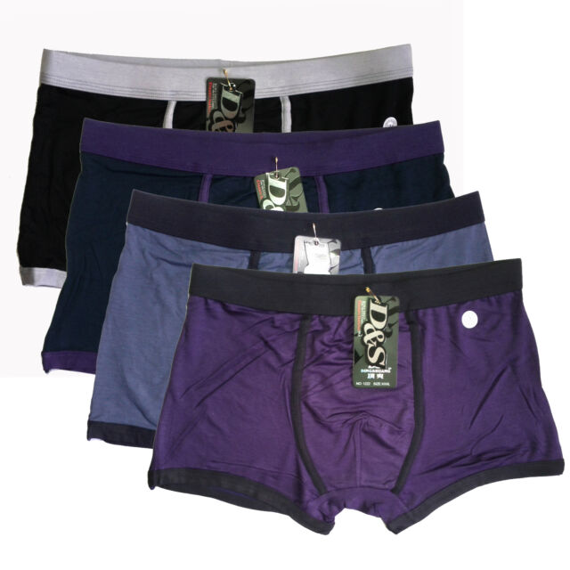 """NWT Mens Classic Underwears Soft Bamboo Boxer Briefs SZ US M 30""""-36"""" 4colors"""