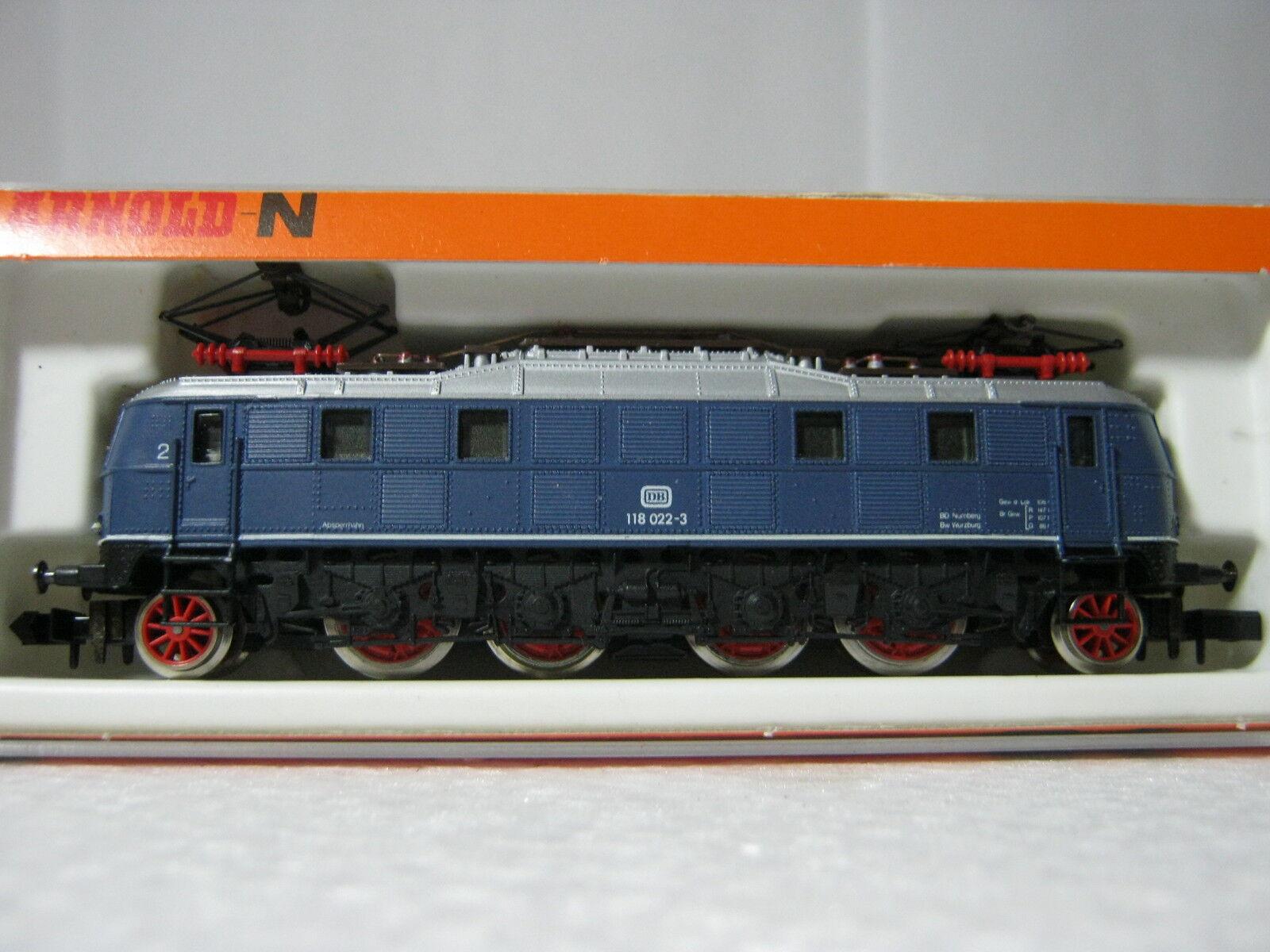 Arnold N 2355 Elektro Lok BTR. n. 118 022 - 3 DB BLU  rg/70s5-074  001