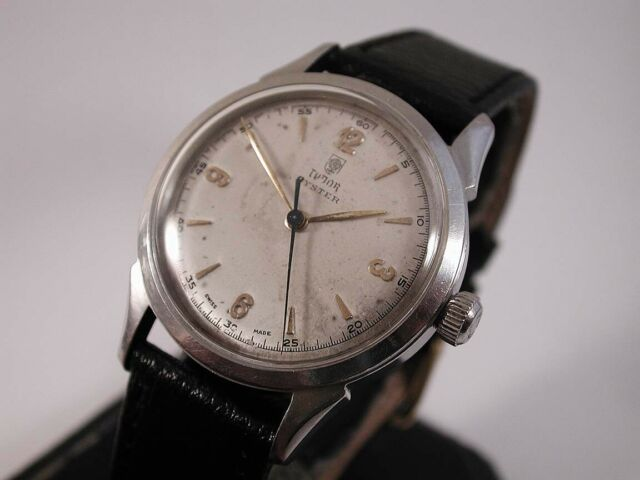Mens Full Size 1950's SS Tudor Oyster by Rolex. 34 mm's  Calibre 59 Movement..