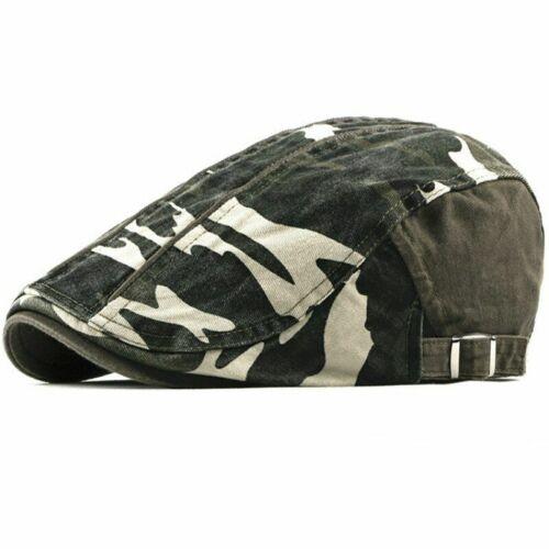 Beret Cap Spring Autumn Hat For Men Cotton Adjustable Cabbies Driver Flat Trendy