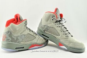 42e9f2ed3eb52f Air Jordan 5 Retro -CHOOSE SIZE - 136027-051 Camo Dark Stucco Olive ...