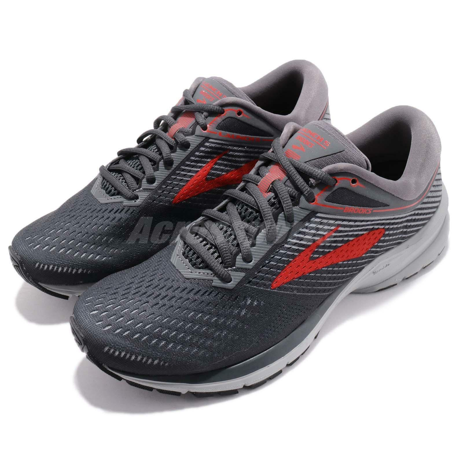 Brooks Launch 5 V Grey Red Men Marathon