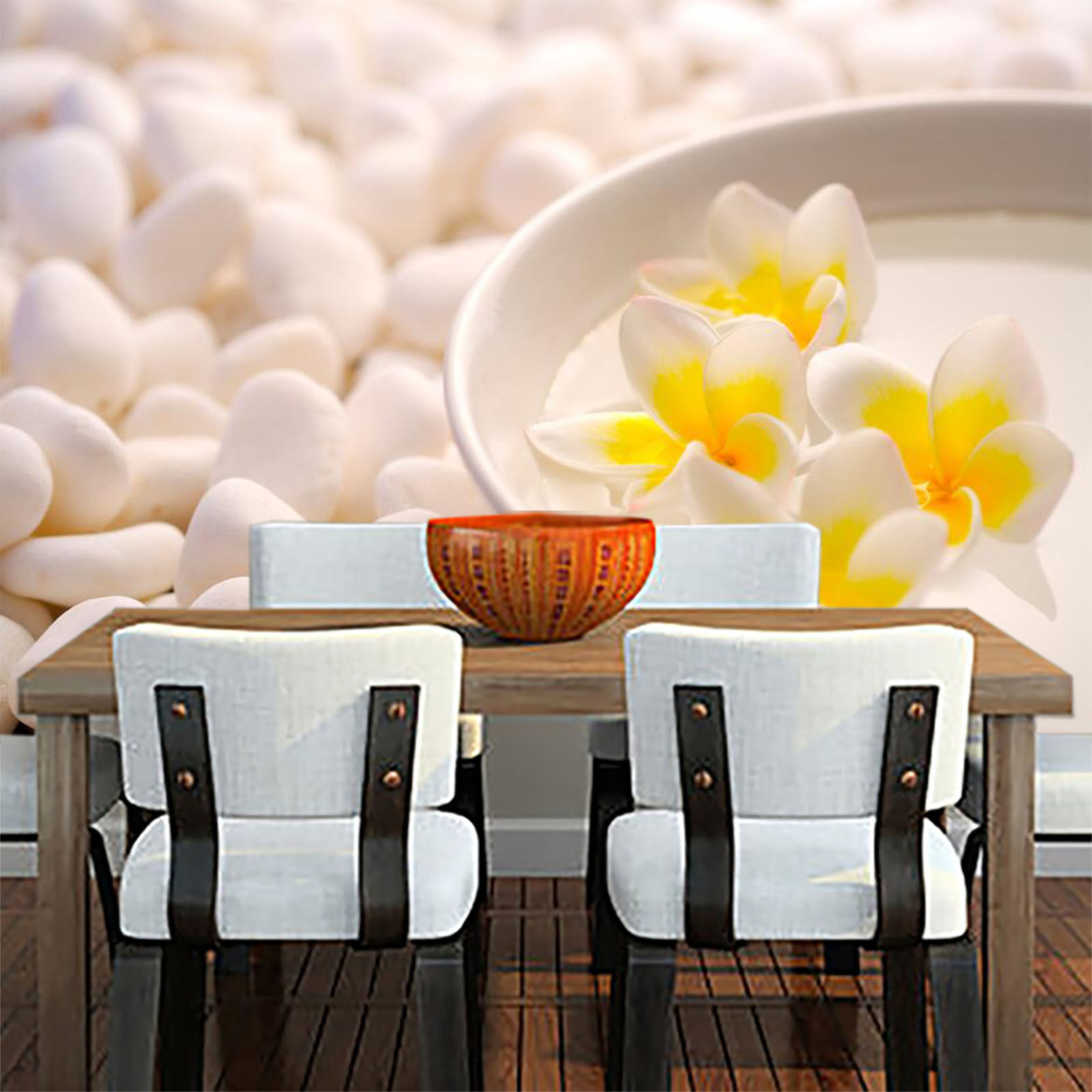 3D Flowers Pebbles 573 WallPaper Murals Wall Print Decal Wall Deco AJ WALLPAPER