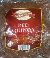 Supremo Italiano Pre Washed 100% Red Quinoa 10 Lb Xxl Size -gluten Free