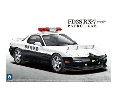Aoshima 01416 Mazda FD3S RX-7 Type IV Police Patrol Car plastic model kit 1//24