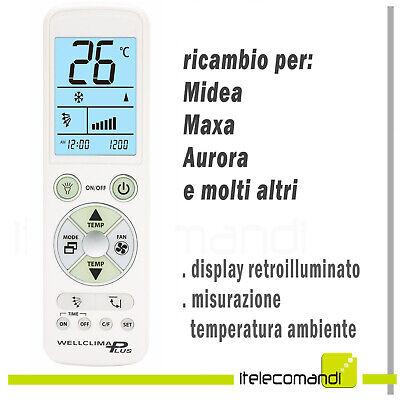 Telecomando Condizionatore Climatizzatore Midea Maxa Aurora Ebay