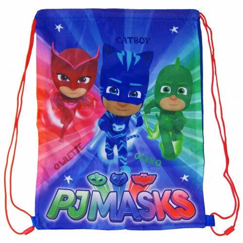 PJ Masks Boys Girls Drawstring Bag School Gym Swim Trainer Bag Sports Character