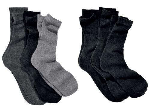 39-42 /& 9-11 //43-46 Men 3 x pack  Socks Black Grey Plush padding size GB 6-8
