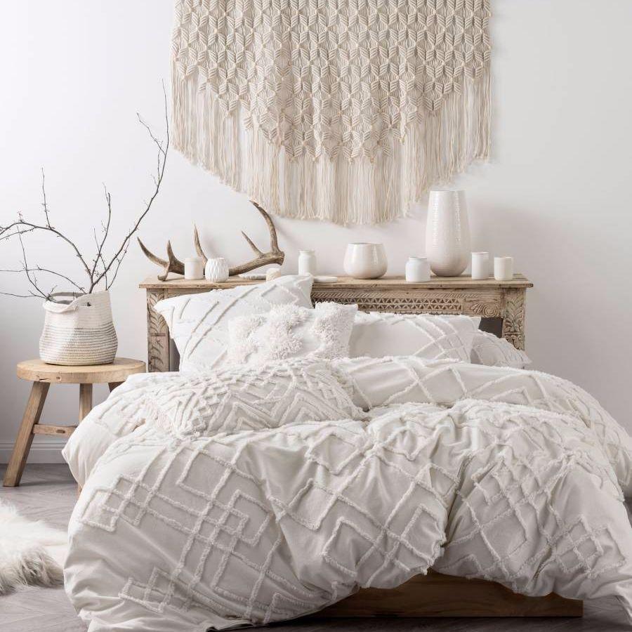 Brand New Linen House Sanura White Duvet Doona Quilt Cover