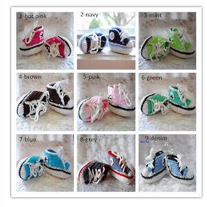 Handmade-Crochet-Knitted-Sports-Shoes-Baby-Boy-Girl-Infant-Pre-Walker-Photo