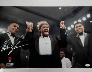 Mike-Tyson-Hand-Signed-Autographed-16X20-Photo-w-Muhammad-Ali-Don-King-JSA-COA