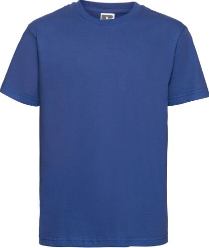 Russell Youths Slim Tee Kids à encolure ras-du-cou Garçons Filles à Manches Courtes Enfants T-Shirt
