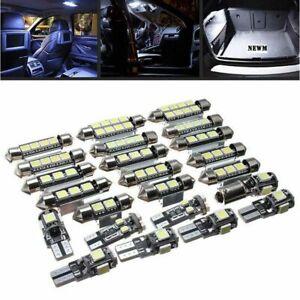 23x-bombillas-LED-coche-Interior-blanco-luz-Kit-lampara-License-Bombilla-Canbus
