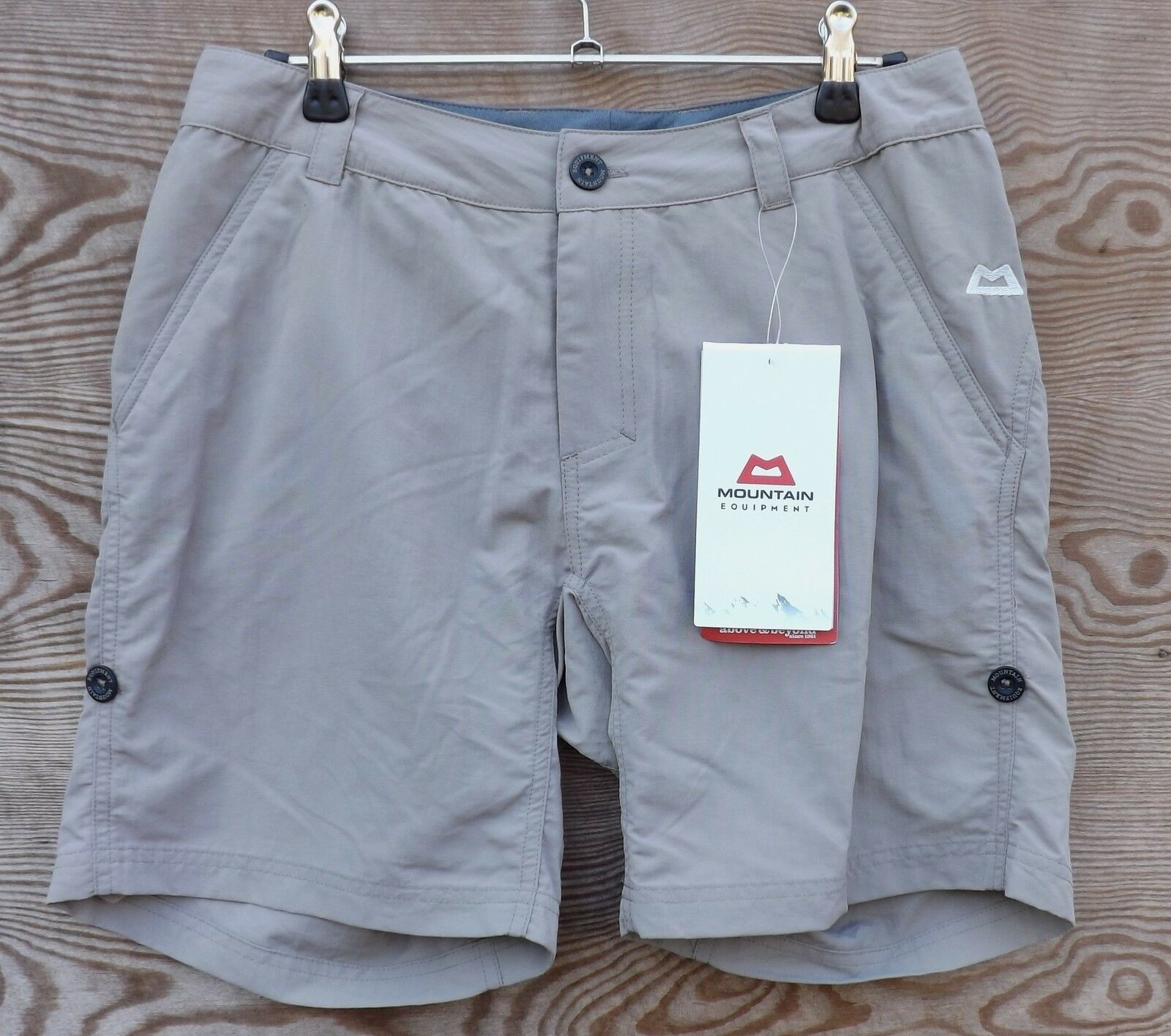 Mountain Equipment Approach corto mujer, Ligero Pantalones Boulder gris