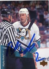 BOBBY DOLLAS MIGHTY DUCKS AUTOGRAPH AUTO 95-96 UPPER DECK #395 *31340