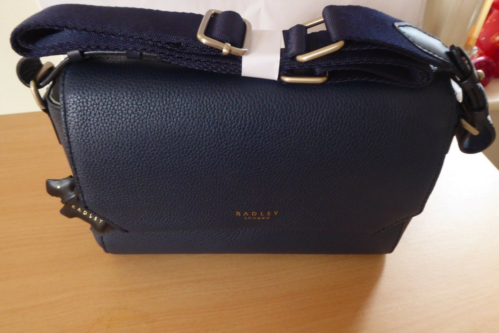 704e0413fb9 Fab Radley Chelsea Small Leather Navy Blue Cross Body Clutch Bag for ...