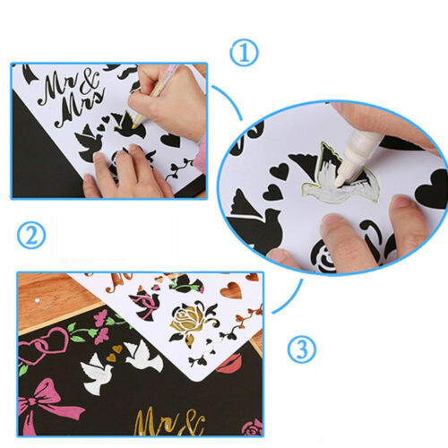 Hot 13X Embossing Template Scrapbooking Walls Painting Layering Stencils Craft