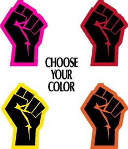 Colorful Shades Mulit Shade Fists Black Lives Matter Fist BLM Sticker Decal