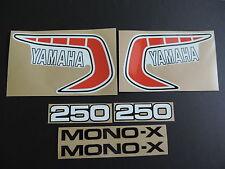 1981 YAMAHA YZ 250 EURO MODEL COMPLETE DECAL SET