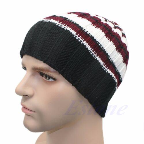 Fashion Women/'s Men/'s Hat Unisex Warm Winter Knit Cap Hip-hop Beanie Hats Black